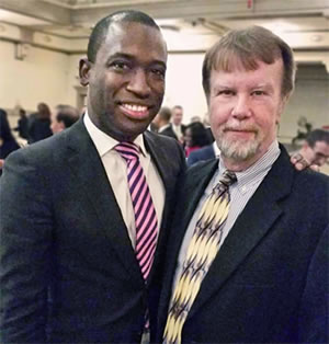 Levar Stoney and Bill Harrison